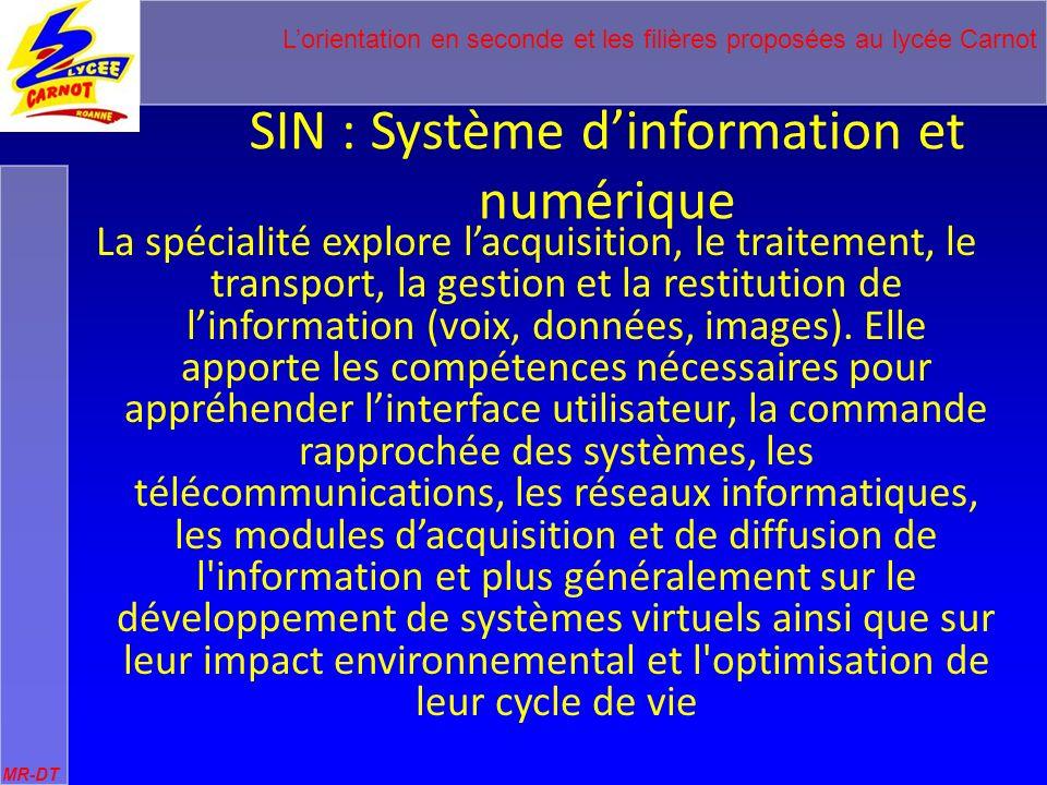 SIN : Système d'information et numérique