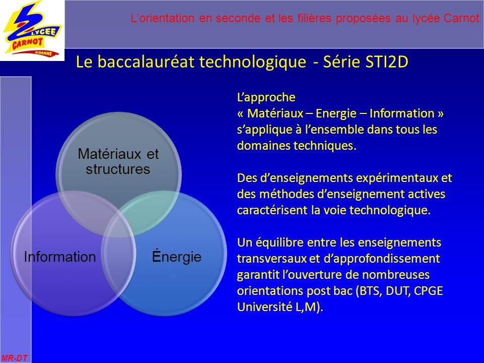 Le baccalauréat technologique - Série STI2D