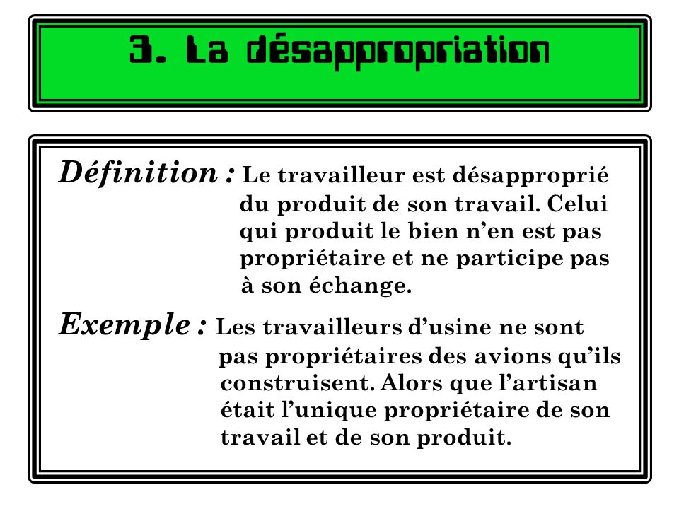 3. La désappropriation