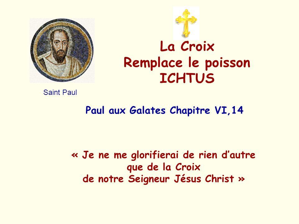 La Croix Remplace le poisson ICHTUS