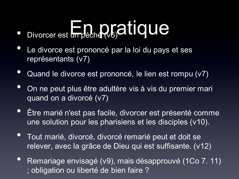 En pratique Divorcer est un péché (v6)