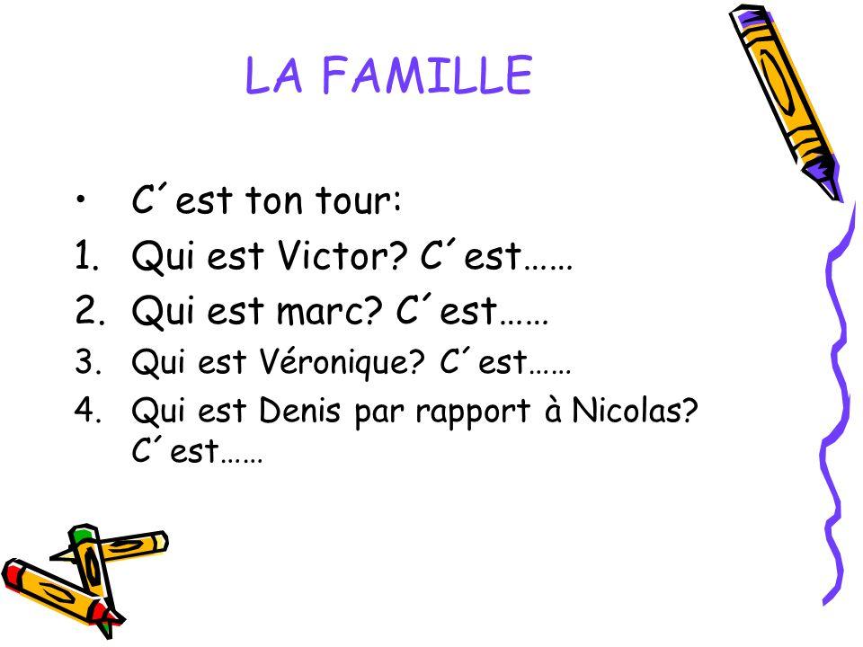 LA FAMILLE C´est ton tour: Qui est Victor C´est……