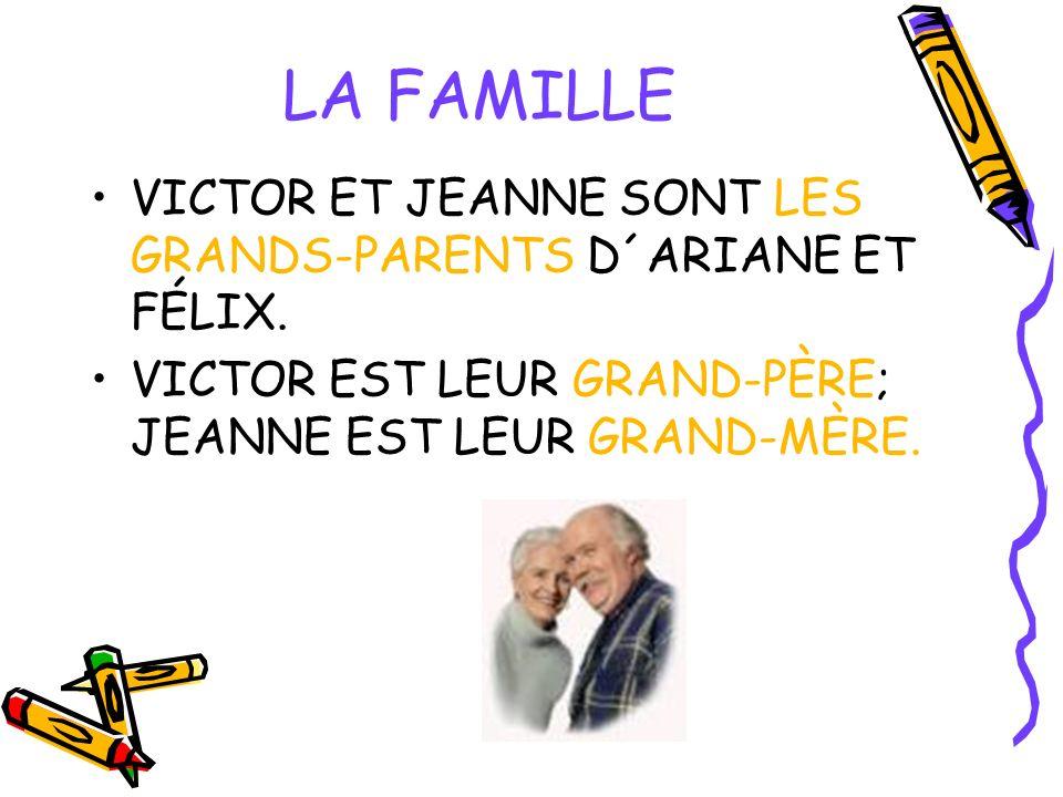 LA FAMILLE VICTOR ET JEANNE SONT LES GRANDS-PARENTS D´ARIANE ET FÉLIX.
