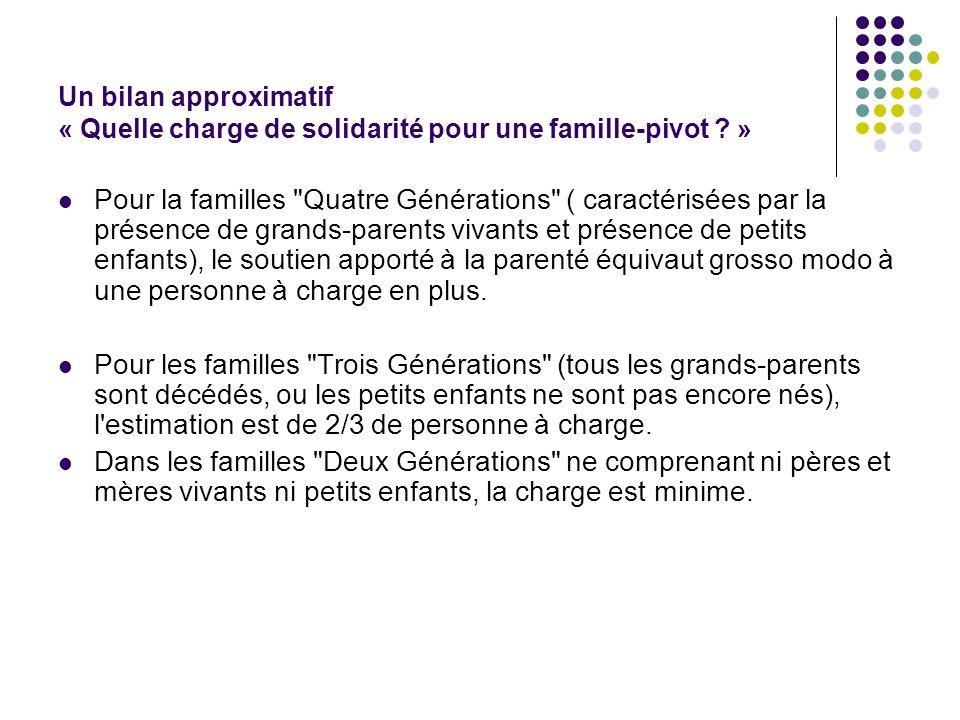 Un bilan approximatif « Quelle charge de solidarité pour une famille-pivot »