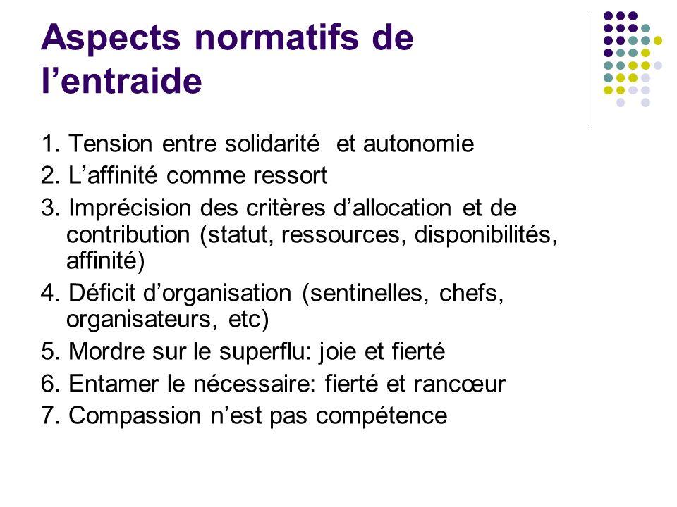 Aspects normatifs de l'entraide