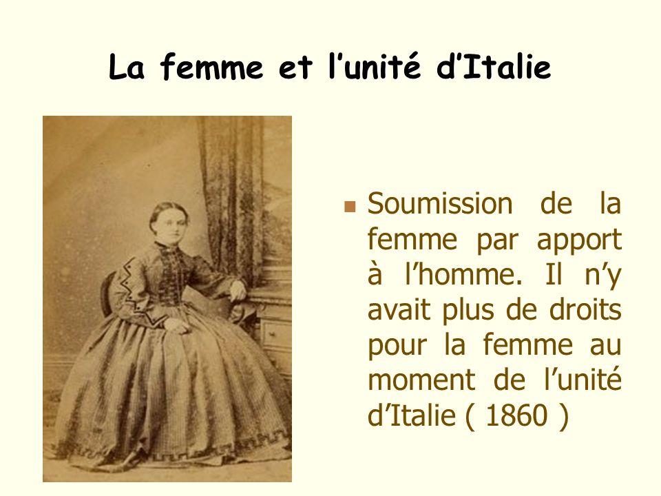 La femme et l'unité d'Italie