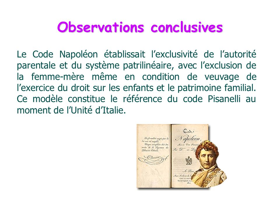 Observations conclusives