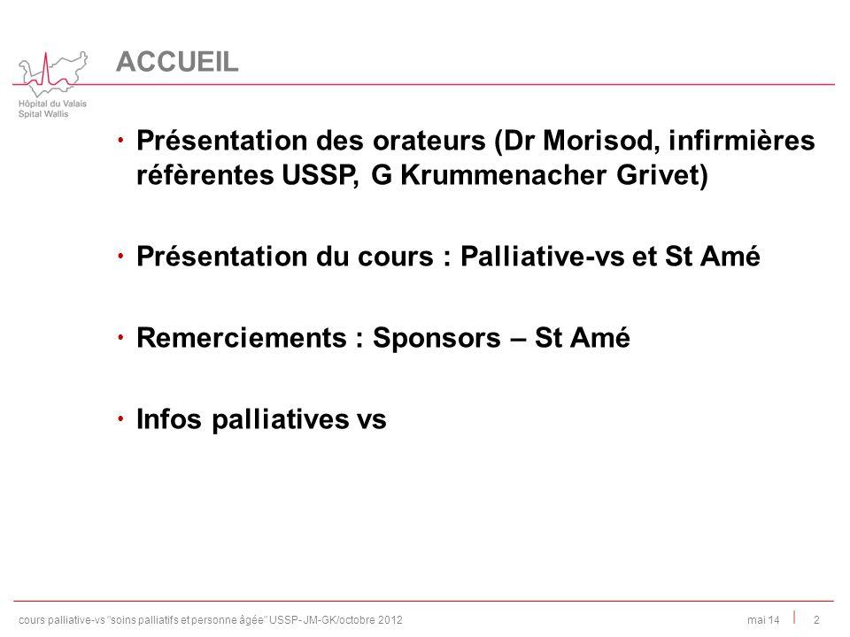 Présentation du cours : Palliative-vs et St Amé