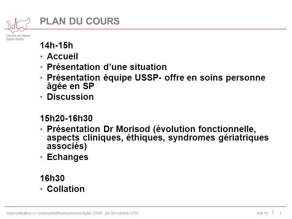 PLAN DU COURS 14h-15h Accueil Présentation d'une situation