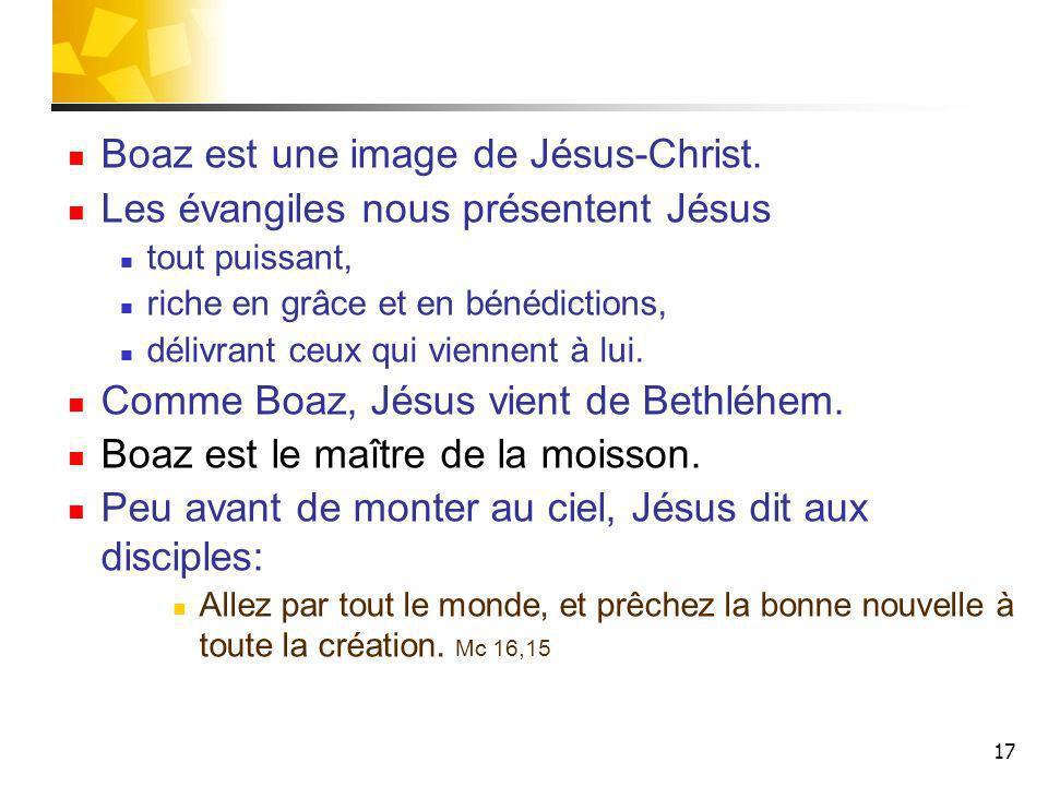 Boaz est une image de Jésus-Christ.