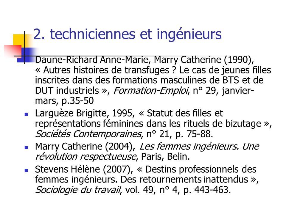 2. techniciennes et ingénieurs