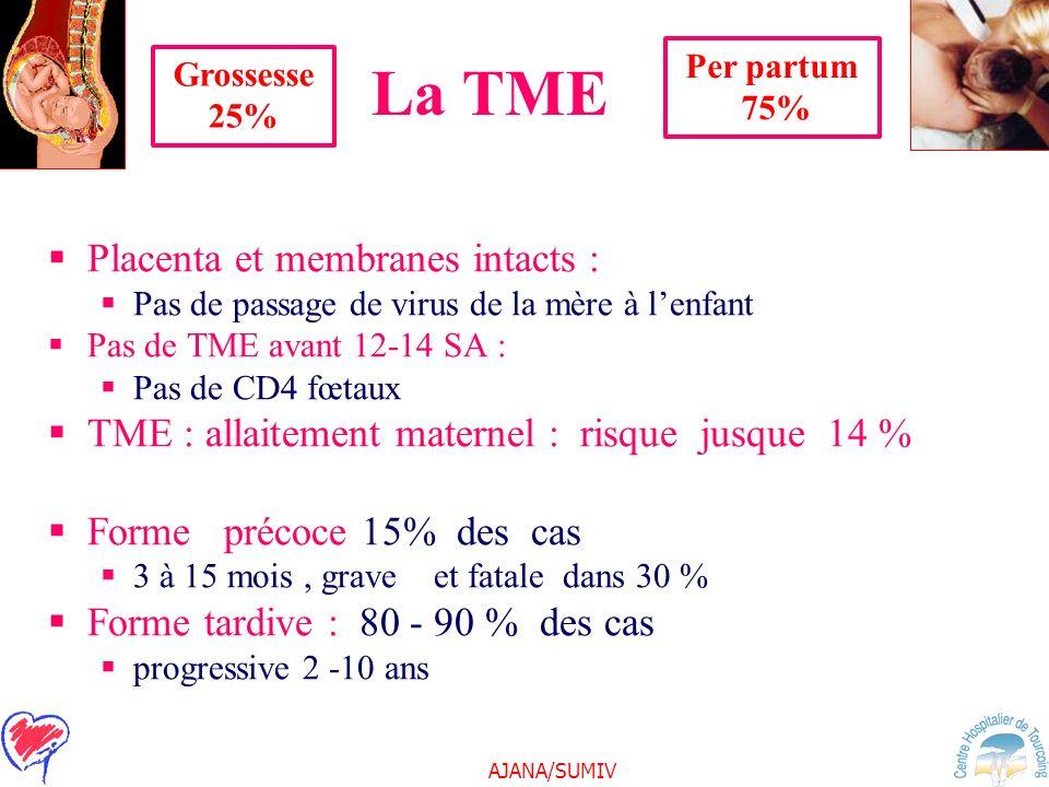La TME Placenta et membranes intacts :