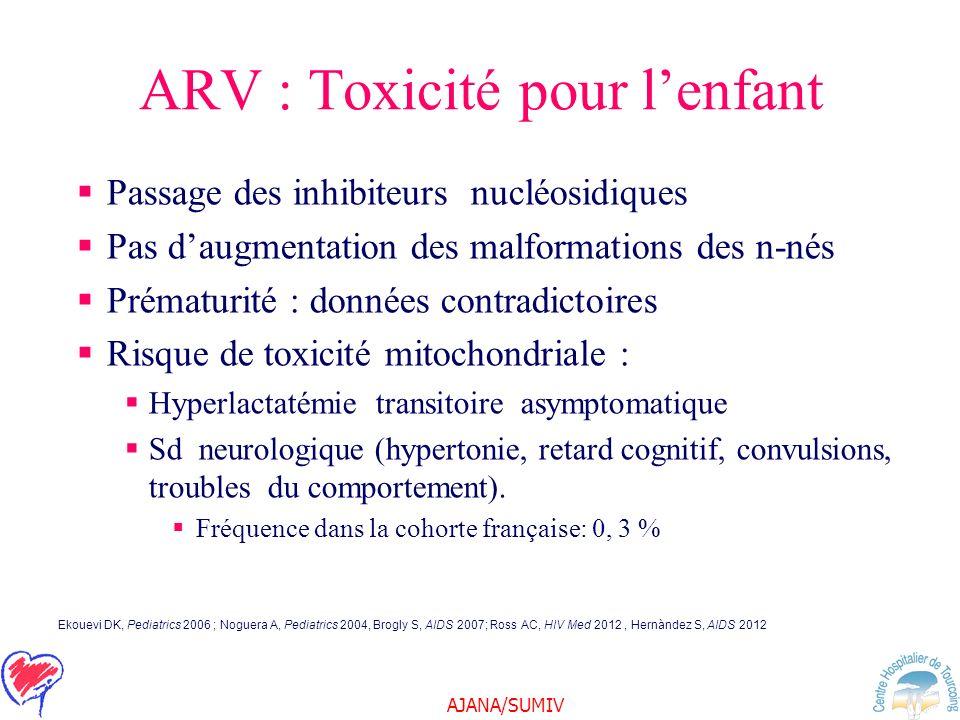 ARV : Toxicité pour l'enfant