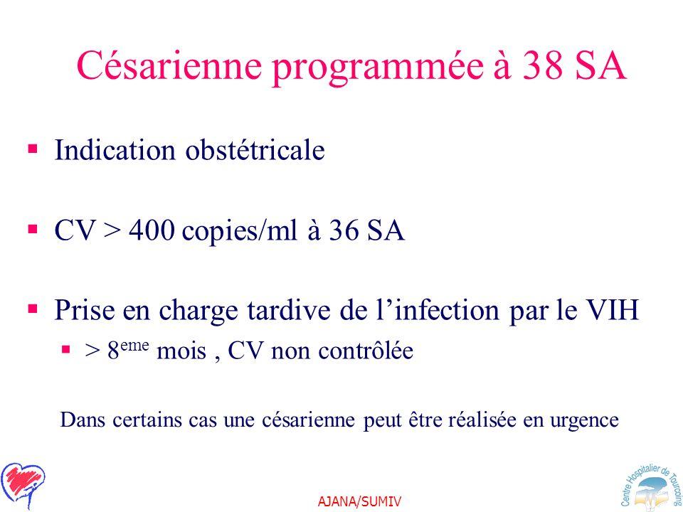 Césarienne programmée à 38 SA