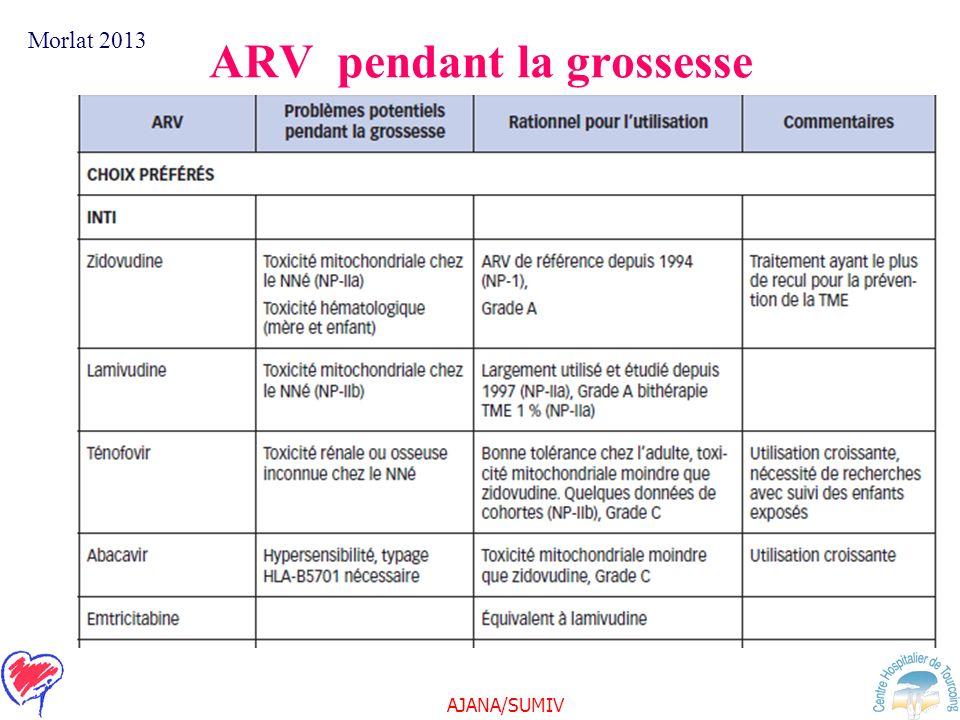 ARV pendant la grossesse