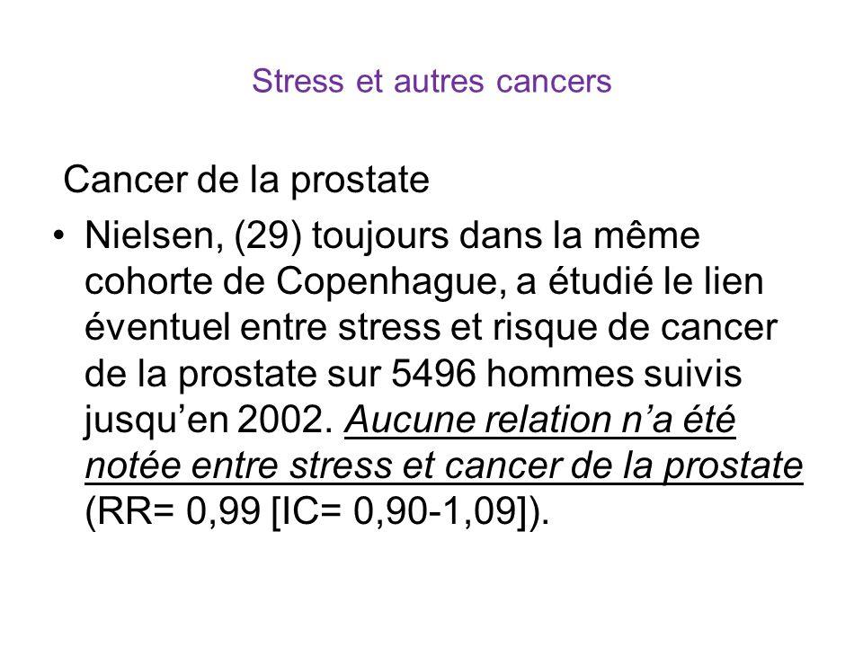 Stress et autres cancers