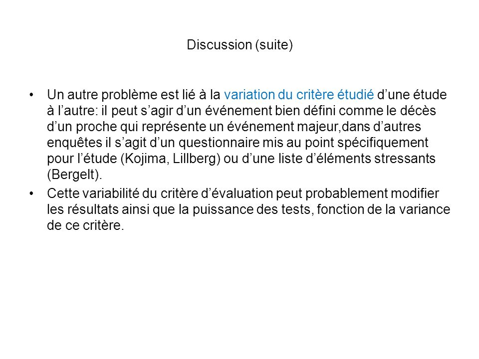 Discussion (suite)