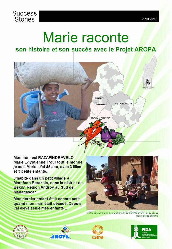 Marie raconte son histoire et son succès avec le Projet AROPA