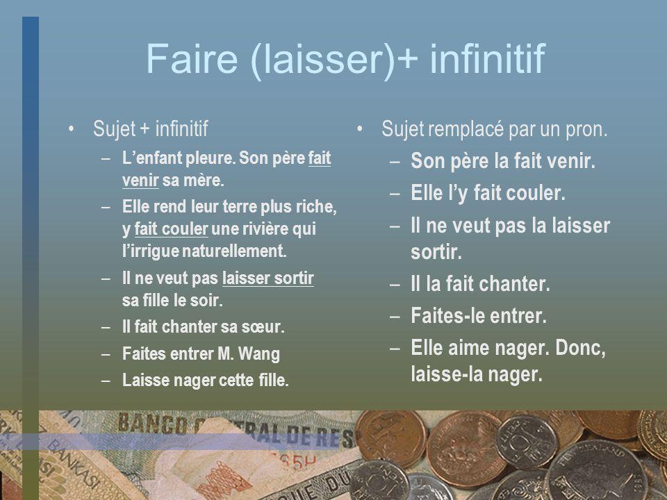 Faire (laisser)+ infinitif