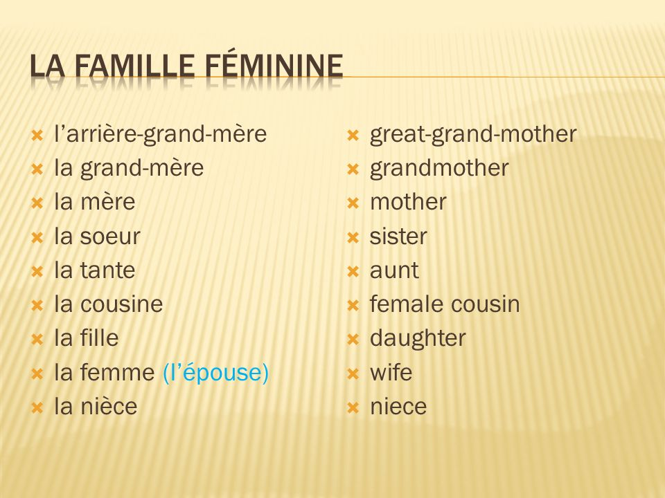 La famille féminine l'arrière-grand-mère la grand-mère la mère