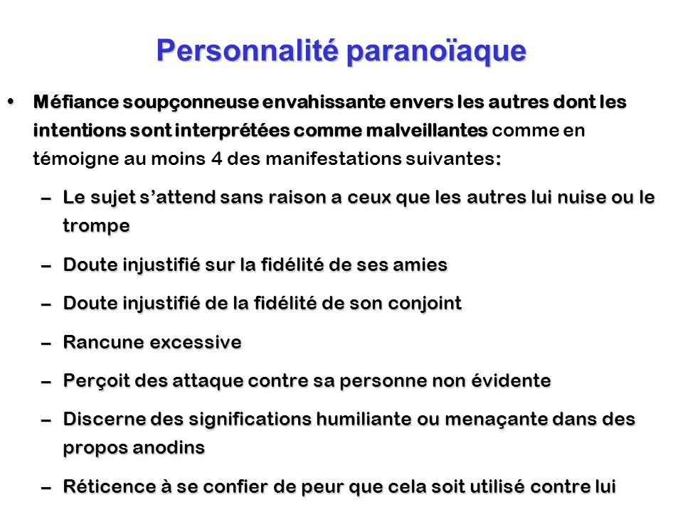 Personnalité paranoïaque