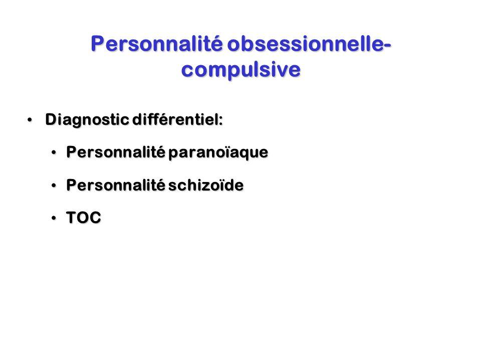 Personnalité obsessionnelle-compulsive