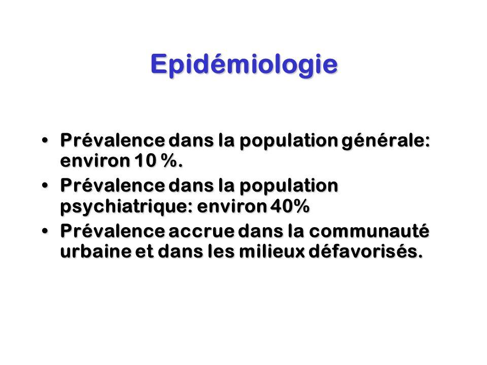 Epidémiologie Prévalence dans la population générale: environ 10 %.