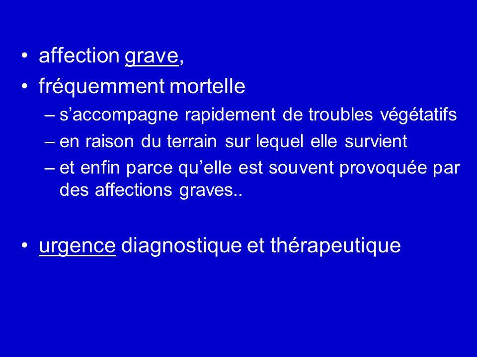 urgence diagnostique et thérapeutique