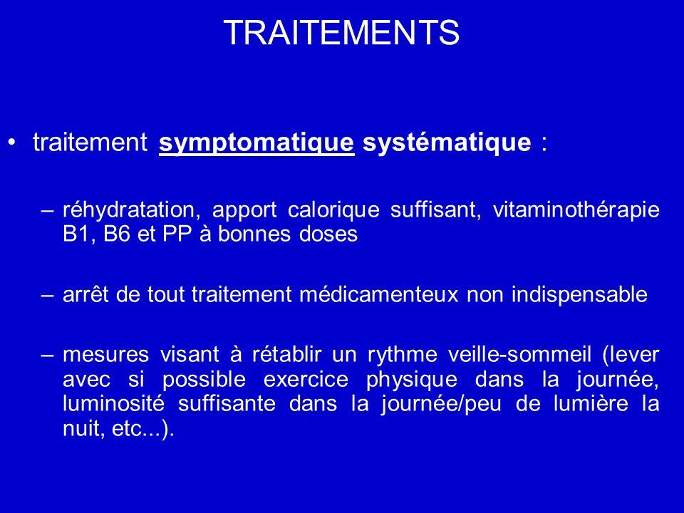 TRAITEMENTS traitement symptomatique systématique :