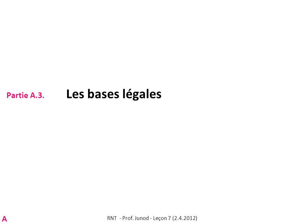 Partie A.3. Les bases légales