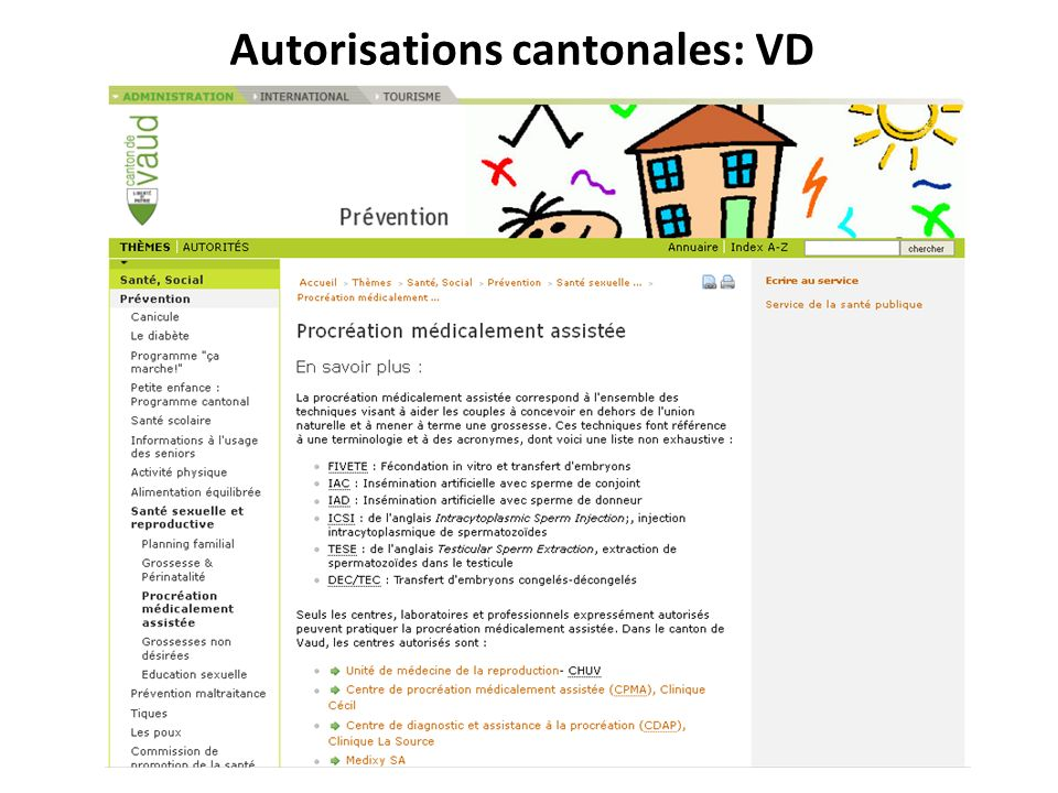 Autorisations cantonales: VD
