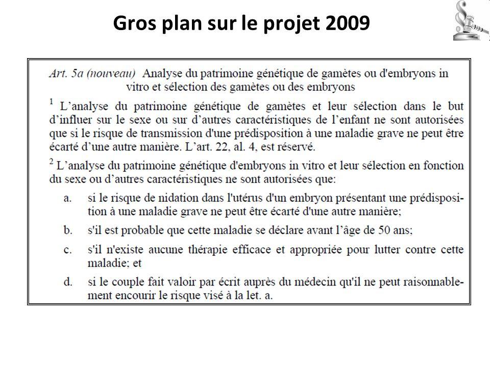 Gros plan sur le projet 2009