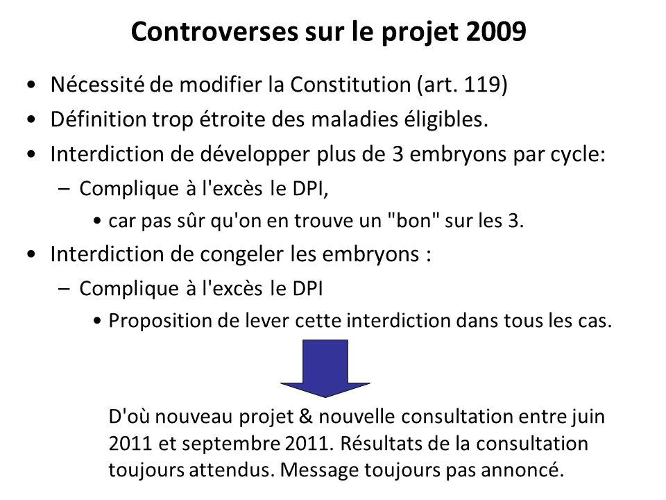 Controverses sur le projet 2009