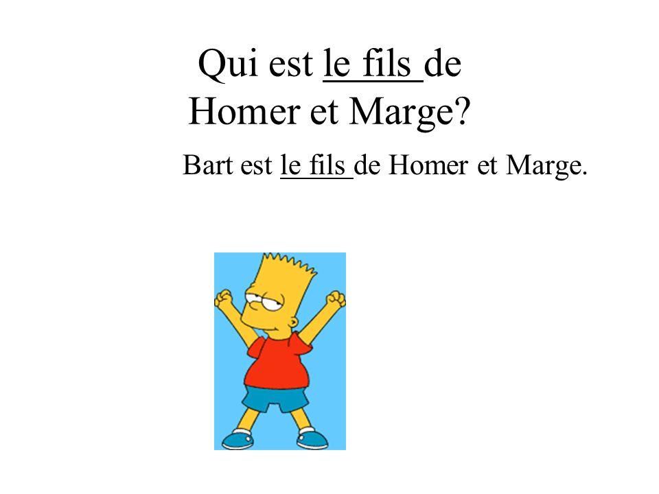Qui est le fils de Homer et Marge