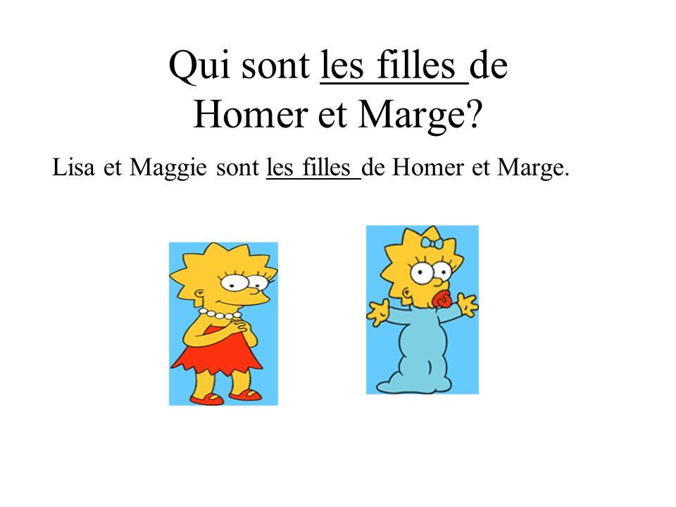 Qui sont les filles de Homer et Marge