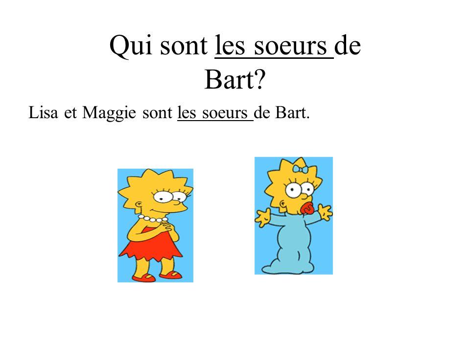 Qui sont les soeurs de Bart