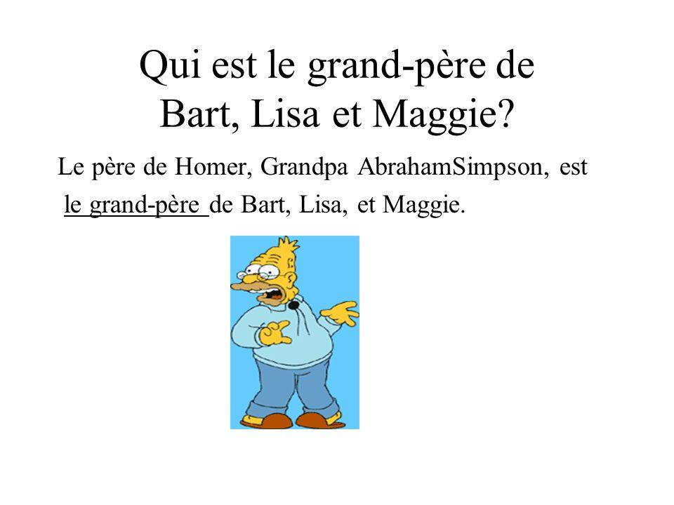 Qui est le grand-père de Bart, Lisa et Maggie