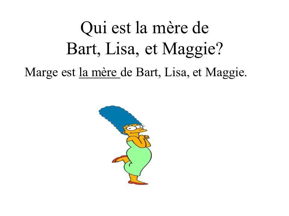 Qui est la mère de Bart, Lisa, et Maggie