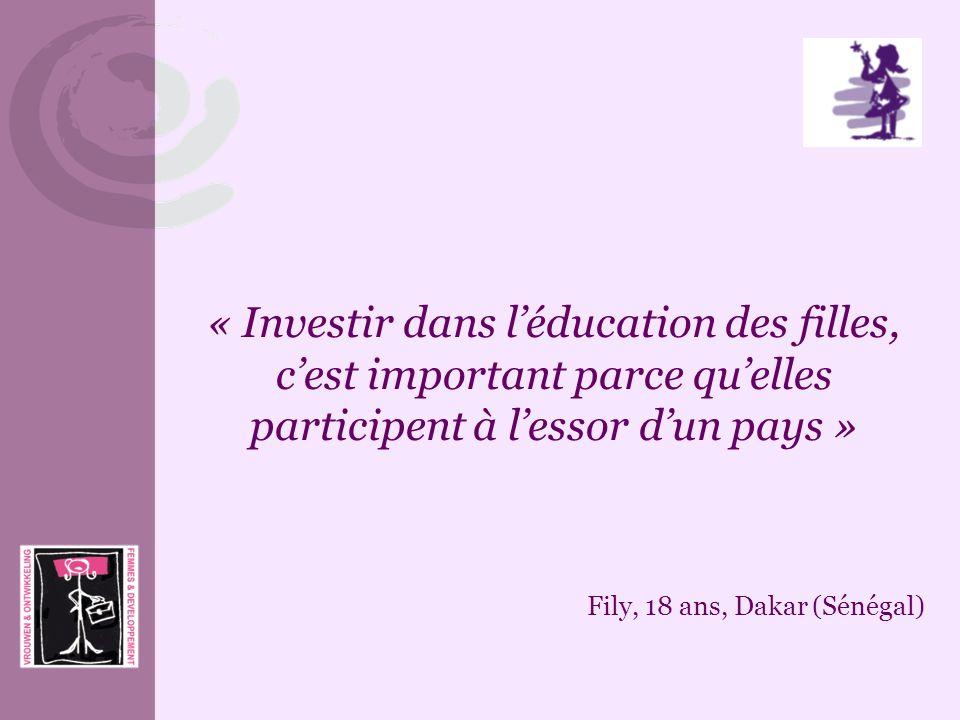 « Investir dans l'éducation des filles, c'est important parce qu'elles participent à l'essor d'un pays »