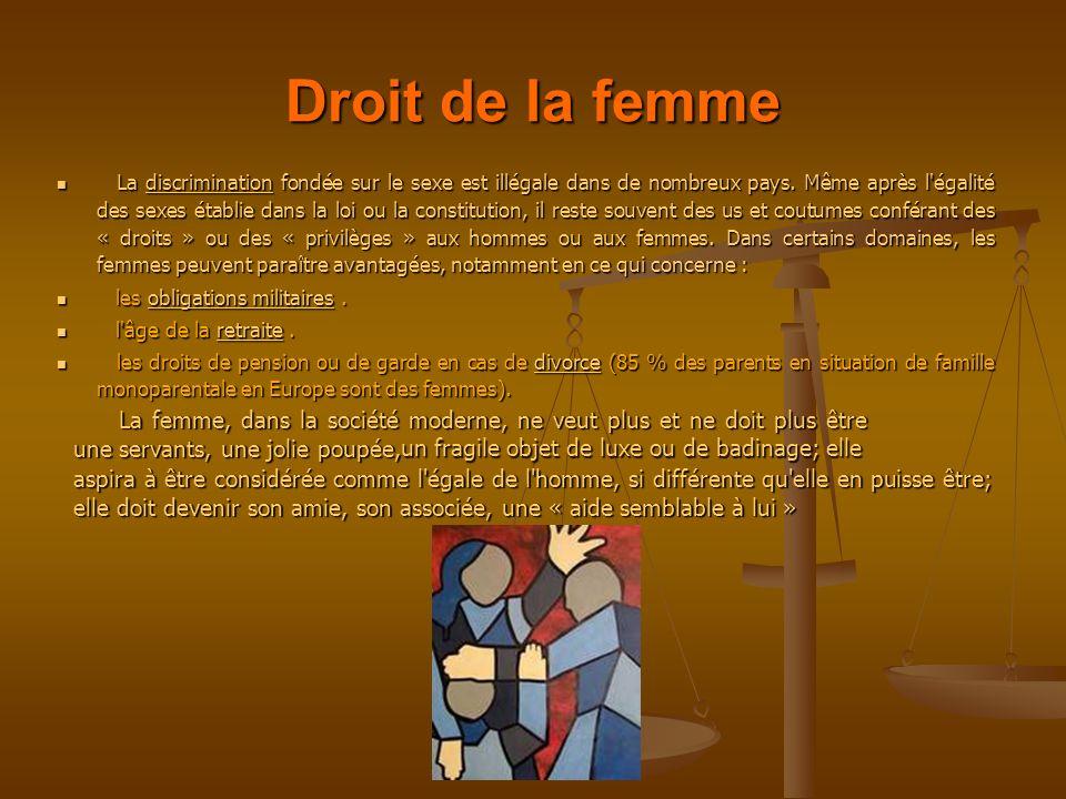 Droit de la femme