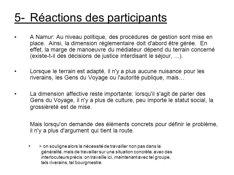 5- Réactions des participants