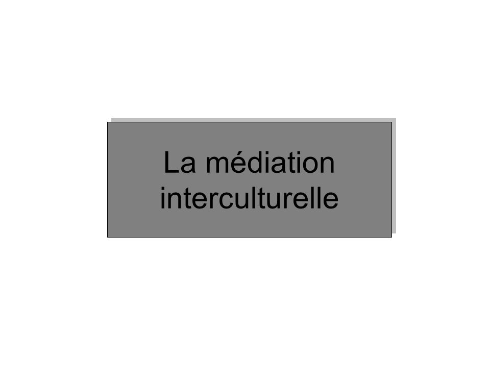 La médiation interculturelle