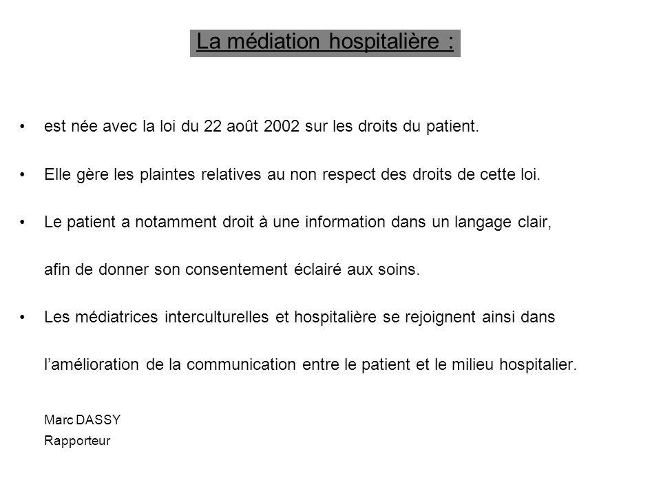 La médiation hospitalière :