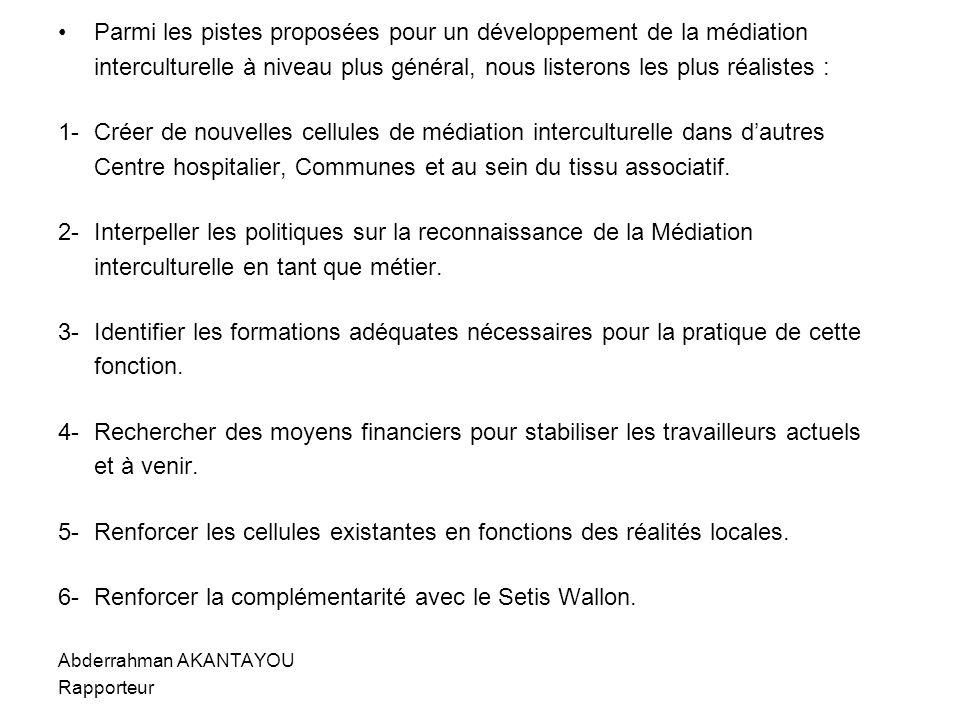 Parmi les pistes proposées pour un développement de la médiation