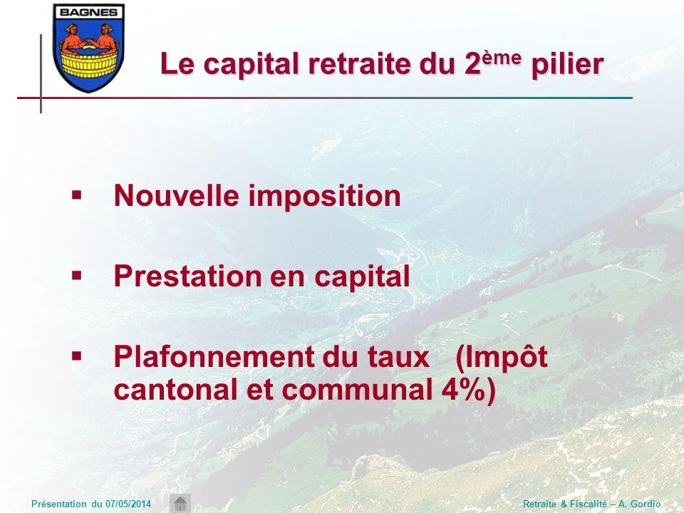 Le capital retraite du 2ème pilier