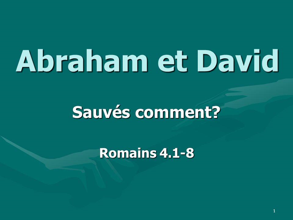 Sauvés comment Romains 4.1-8