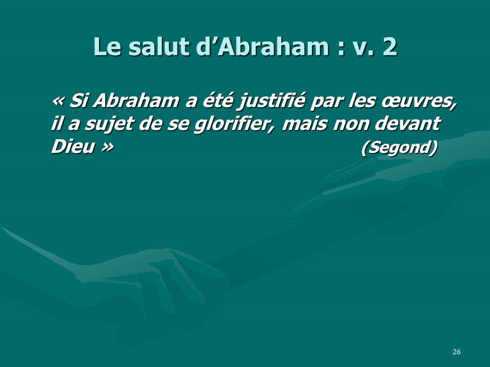 Le salut d'Abraham : v.