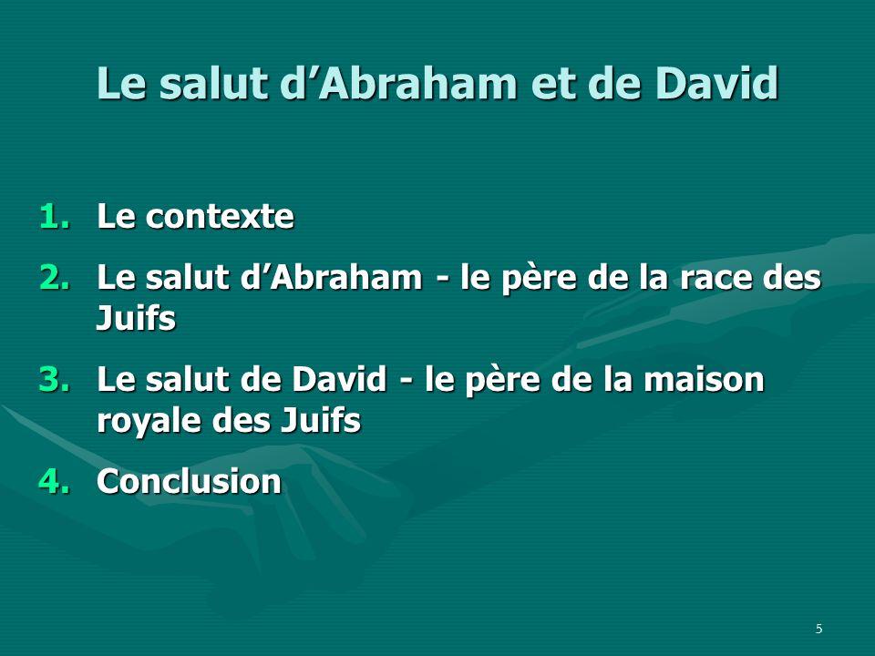 Le salut d'Abraham et de David