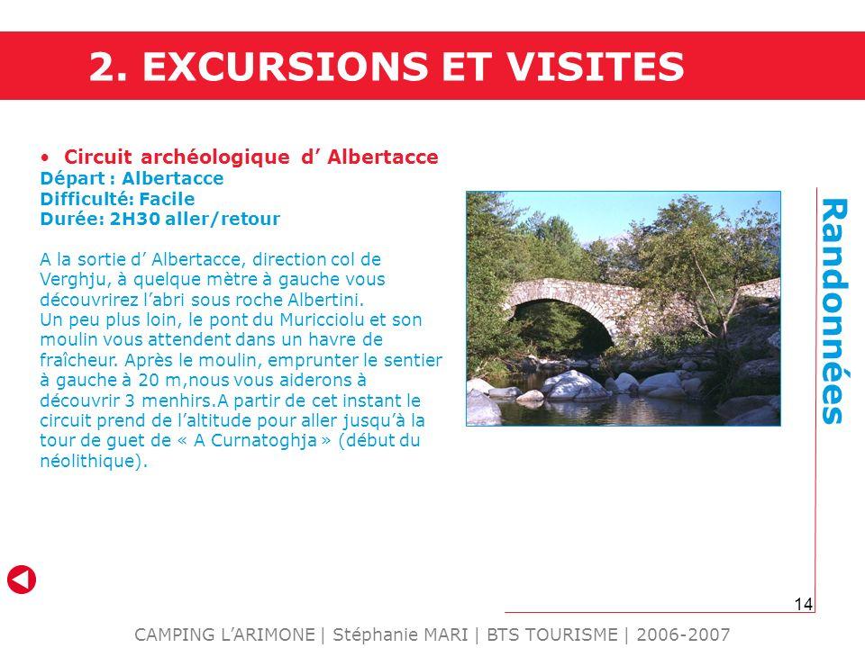 CAMPING L'ARIMONE | Stéphanie MARI | BTS TOURISME | 2006-2007