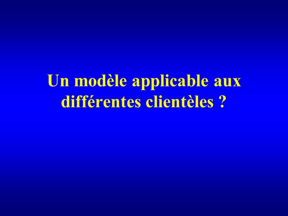 Un modèle applicable aux différentes clientèles